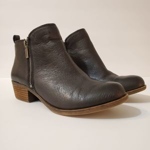 Lucky Brand LK Basel Brown Leather Bootie, sz 7